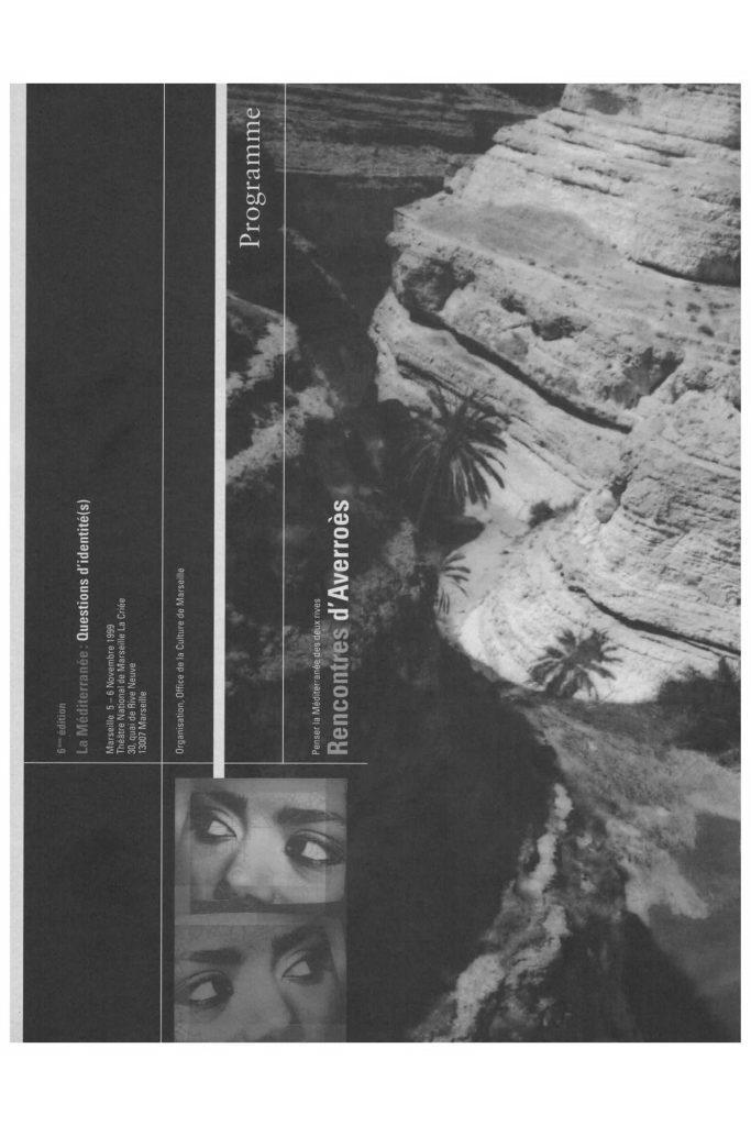 Rencontres d'Averroès #27 - Du 19/11/ au 22/11/ - Marseille - rap-culture.fr
